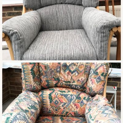 "Photo of project ""Armchair Reupholstery 14"" #1"