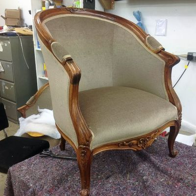 "Photo of project ""Classic Armchair Reupholstery 4"" #2"