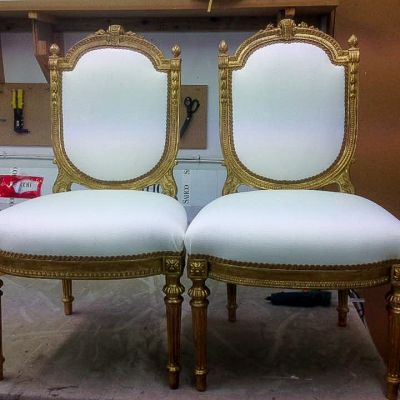 "Photo of project ""Classic Chairs Reupholstery 1"" #2"