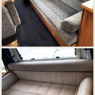 "Photo of project ""Ducato suede upholstery"" #5"