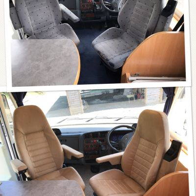 "Photo of project ""Ducato suede upholstery"" #3"