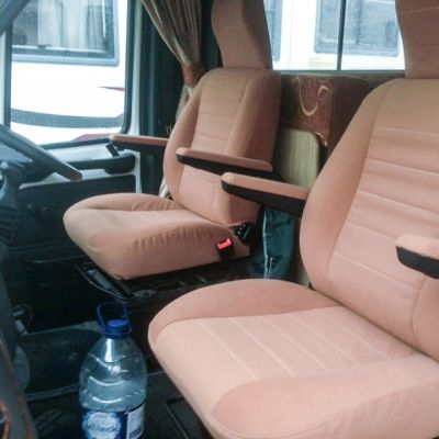 "Photo of project ""Fabric + suede Motorhome upholstery"" #2"