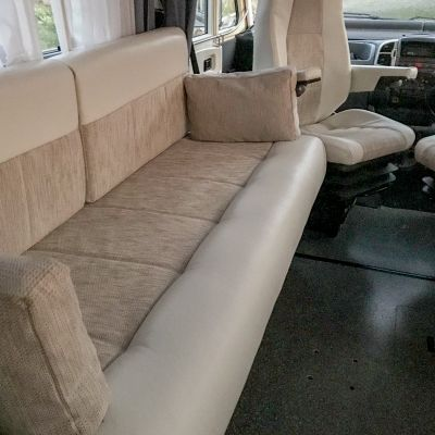 "Photo of project ""Hymer B584 New half leather upholstery"" #4"