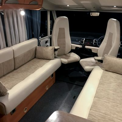 "Photo of project ""Hymer B584 New half leather upholstery"" #3"