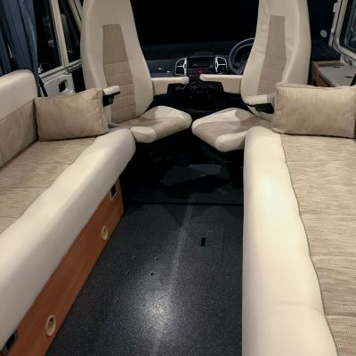 "Photo of project ""Hymer B584 New half leather upholstery"" #1"