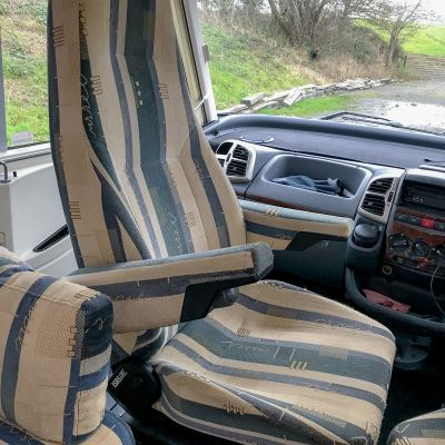 "Photo of project ""Hymer B584 New half leather upholstery"" #12"