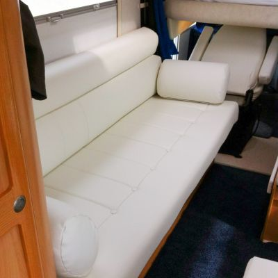 "Photo of project ""Hymer white leather upholstery"" #2"