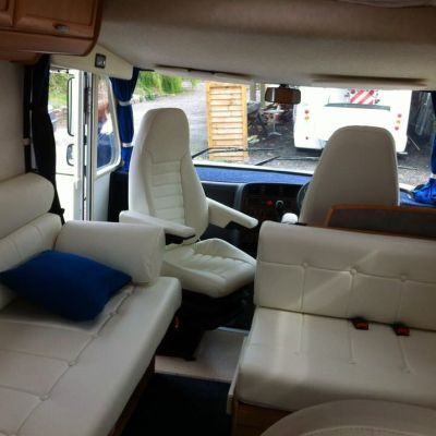 "Photo of project ""Hymer white leather upholstery"" #8"
