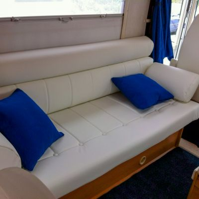 "Photo of project ""Hymer white leather upholstery"" #6"