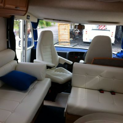 "Photo of project ""Hymer white leather upholstery"" #1"
