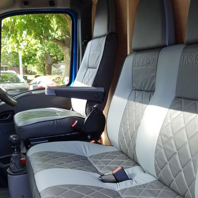 "Photo of project ""Iveco driver seat and double seat leather upholstery"" #1"