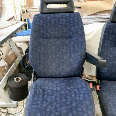 "Photo of project ""Iveco driver seat and double seat leather upholstery"" #7"