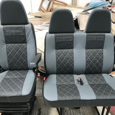 "Photo of project ""Iveco driver seat and double seat leather upholstery"" #3"
