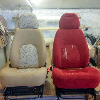 "Photo of project ""Motorhome Fabric + Suede upholstery"" #3"