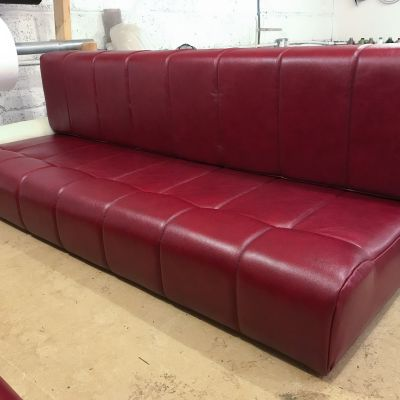 "Photo of project ""Red leather Motorhome cushions"" #8"