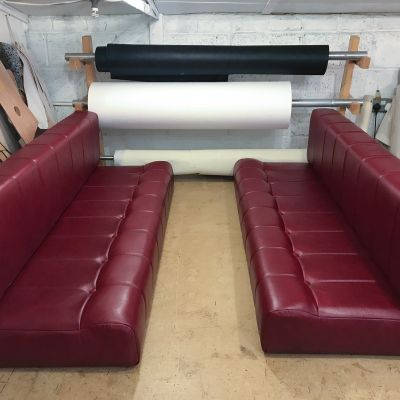 "Photo of project ""Red leather Motorhome cushions"" #3"