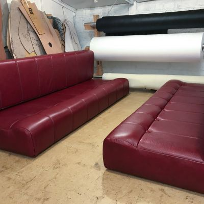 "Photo of project ""Red leather Motorhome cushions"" #2"