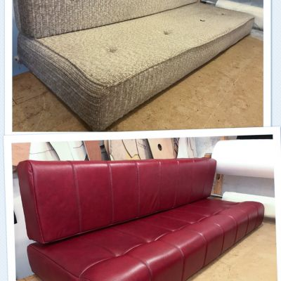 "Photo of project ""Red leather Motorhome cushions"" #7"