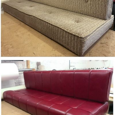 "Photo of project ""Red leather Motorhome cushions"" #6"