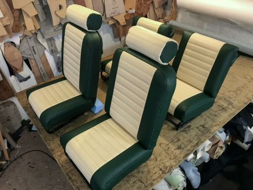 Preview for Buggy Seats Vinyl Upholstery - Mini Moke 1969
